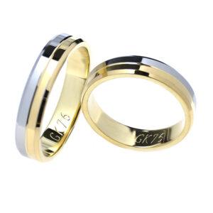 Obrączki ślubne z dwukolorowego złota, obrączki biało-żółte