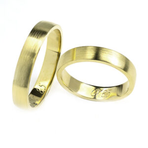 Obrączki ślubne z żółtego złota, obrączki lekko półokrągłe